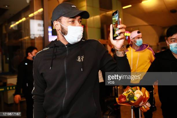 Rafael Da Silva of Wuhan Zall F.C. Arrives at Wuhan railway station on April 18, 2020 in Wuhan, Hubei Province of China.