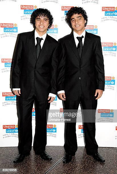 Rafael De Silva and Fabio Da Silva attend the Manchester United `United for UNICEF' Gala Dinner at Manchester United Museum on November 9 2008 in...