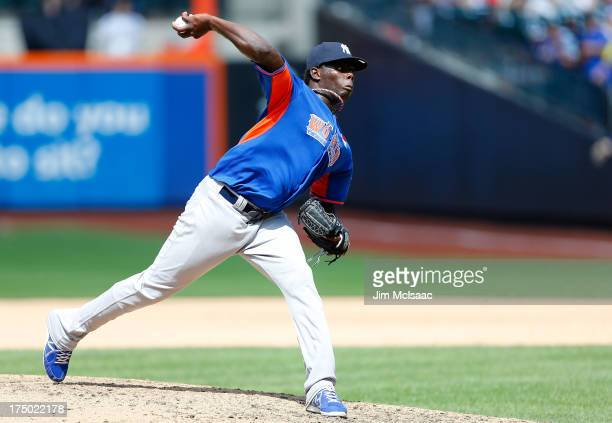 Rafael DePaula of the World Team in action against the United States during the SiriusXM All-Star Futures Game on July 14, 2013 at Citi Field in the...