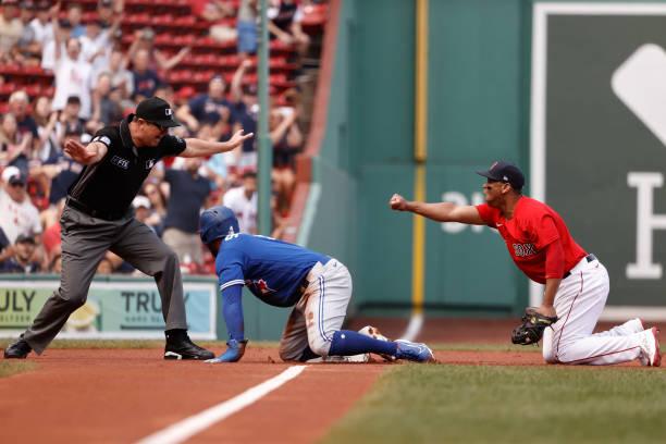 MA: Toronto Blue Jays v Boston Red Sox - Game One