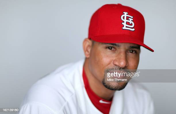 Rafael Furcal of the St Louis Cardinals poses during photo day at Roger Dean Stadium on February 19 2013 in Jupiter Florida