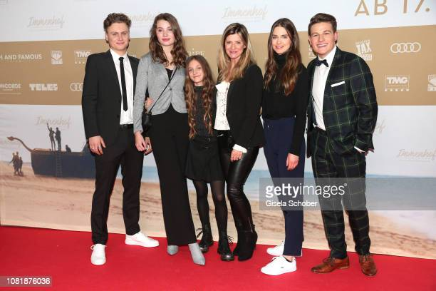 Rafael Gareisen Leia Holtwick Ella Paeffgen Director Sharon von Wietersheim Laura Berlin and Moritz Baeckerling during the premiere of the film...