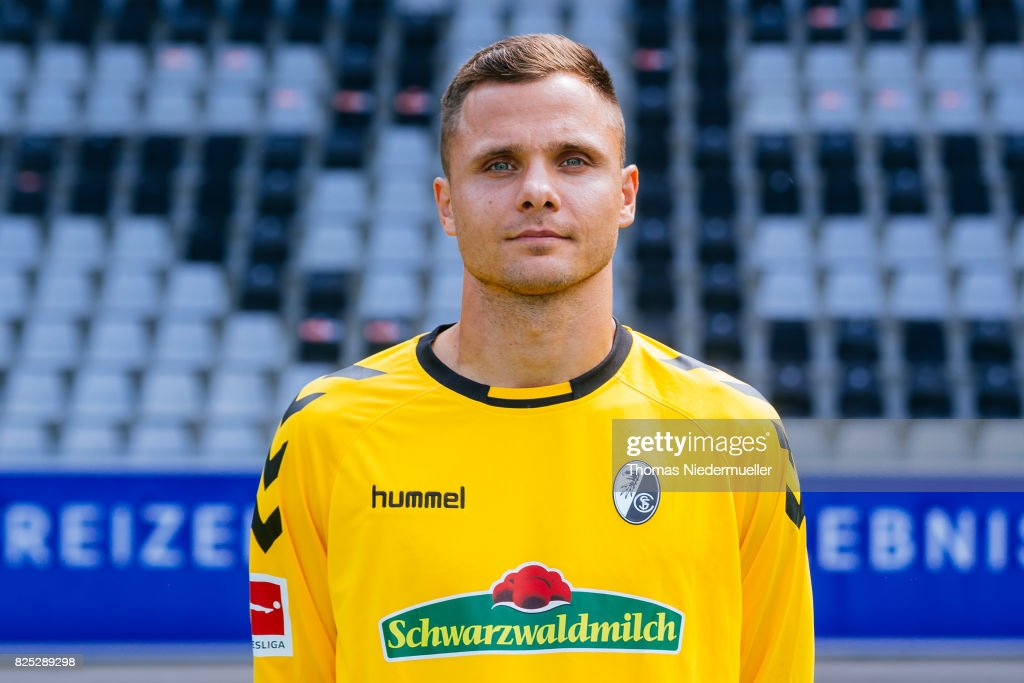 Rafael Gikiewicz of SC Freiburg poses during the team presentation at Schwarzwald-Stadion on August 1, 2017 in Freiburg im Breisgau, Germany.