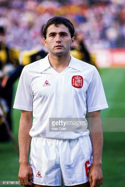 Rafael Gordillo of Spain during the Football European Championship between Portugal and Spain Marseille France on 17 June 1984