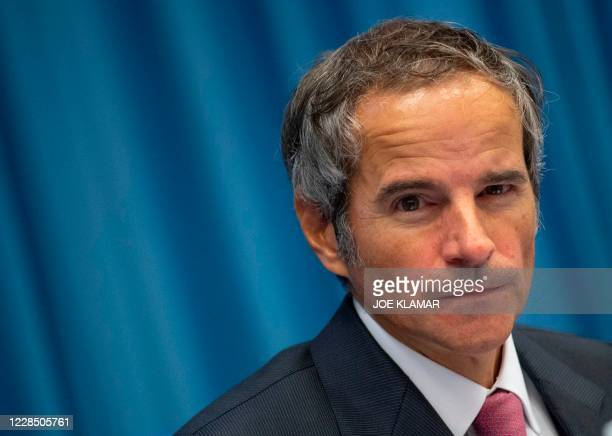 Rafael Grossi, Director General of the International Atomic Energy Agency , opens the Board of Governors of the IAEA at the agency's headquarters in...