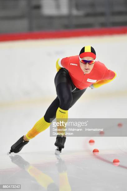 Rafael Heredia of Spain performs during the Men 1500 Meter at the ISU ISU Junior World Cup Speed Skating at Max Aicher Arena on November 26 2017 in...