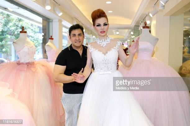 Rafael Hernandez and Carmen Campuzano during a performance as part of an event at the Rafael Hernandez' Store on May 25 2019 in Mexico City Mexico