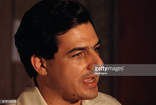 Rafael Hernandez Colon Governor of Puerto Rico from 19721977 is captured in this closeup photo