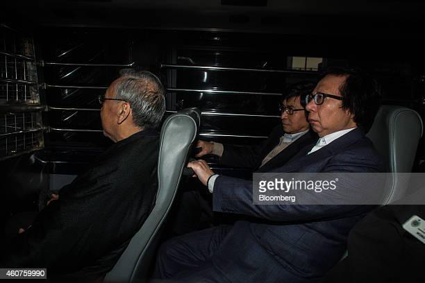 Rafael Hui Hong Kong's former chief secretary left Thomas Chan former executive board member of Sun Hung Kai Properties Ltd center and Thomas Kwok...