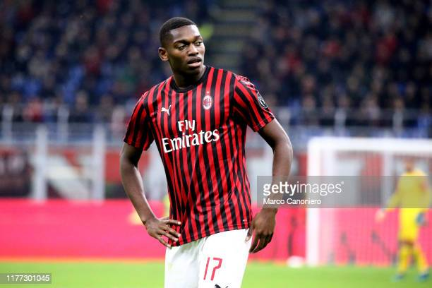 Rafael Leao of Ac Milan during the Serie A match between Ac Milan and Us Lecce. The match ends in a draw 2 - 2.