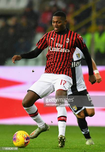 Rafael Leao of AC Milan in action during the Serie A match between Parma Calcio and AC Milan at Stadio Ennio Tardini on December 1 2019 in Parma Italy
