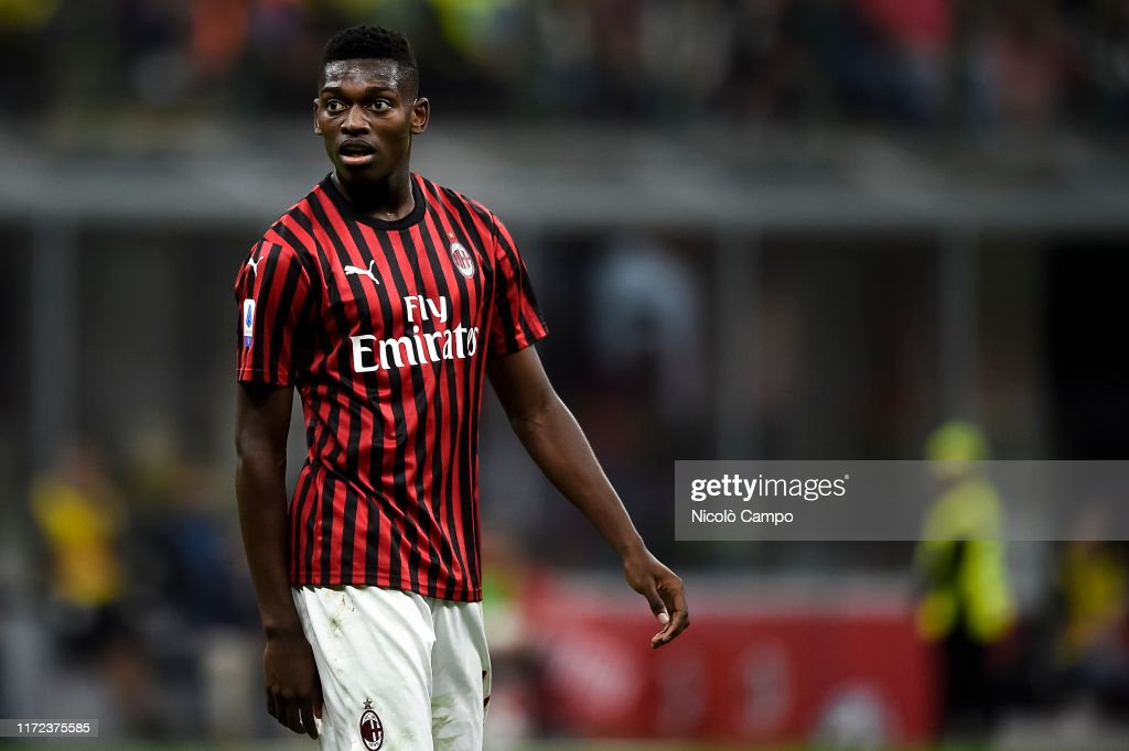 Rafael Leao of AC Milan looks on during the Serie A football... : News Photo