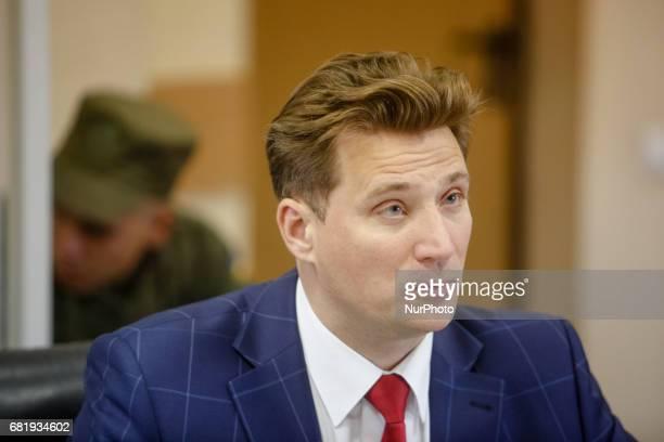 Rafael Lusvarghi's lawyer Valentyn Rybin has a speech during the trial in Kyiv Ukraine May 11 2017 Appeal court of Kyiv hears the case on Brazilian...