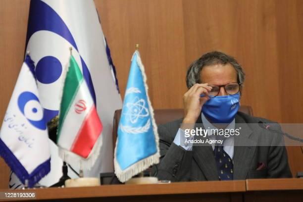 Rafael Mariano Grossi, Director General of the International Atomic Energy Agency and head of Atomic Energy Organization of Iran, Ali Akbar Salehi...