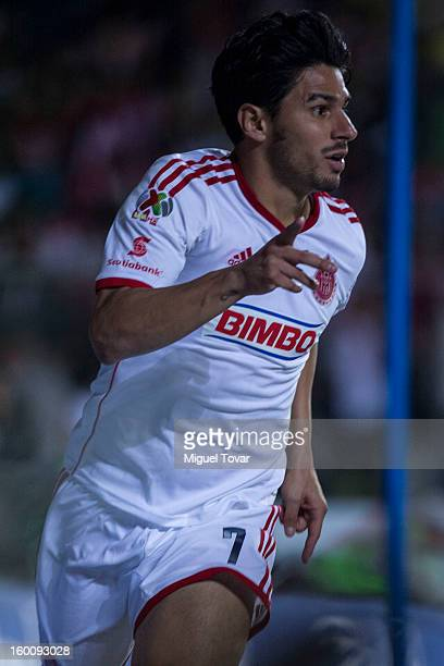 Rafael Marquez of Chivas celebrates after scoring during a match between Morelia and Chivas as part of the Clausura 2013 Copa MX at Morelos Stadium...
