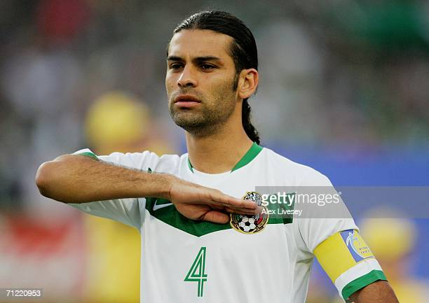f85479fbebd Rafael Marquez of Mexico acknowledges his country's national anthem prior to  the FIFA World Cup Germany