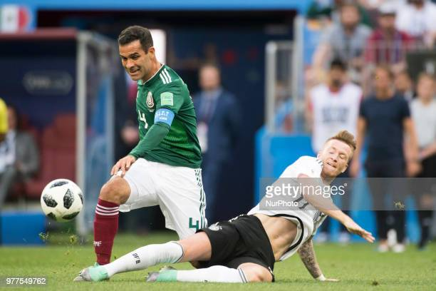 Rafael Marquez of Mexico controls the ball during the 2018 FIFA World Cup Russia Group F match between Germany and Mexico at Luzhniki Stadium in...