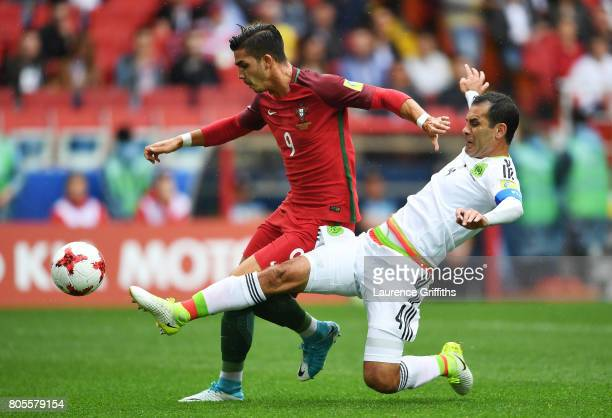 Rafael Marquez of Mexico fouls Andre Silva of Portugal and a penalty is awrded during the FIFA Confederations Cup Russia 2017 PlayOff for Third Place...