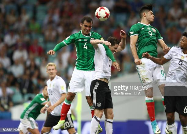 3c7411f14 Rafael Marquez of Mexico heads the ball during the FIFA Confederations Cup  Russia 2017 SemiFinal between
