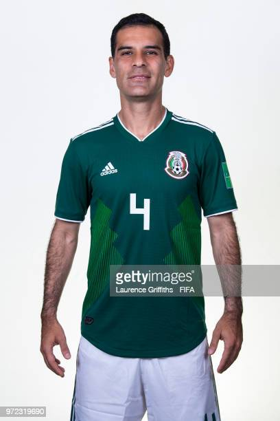 Rafael Marquez of Mexico poses for a portrait during the official FIFA World Cup 2018 portrait session at the Team Hotel on June 12 2018 in Moscow...