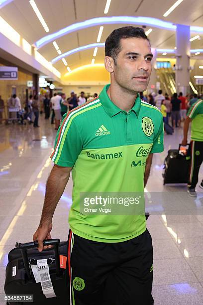 Rafael Marquez of Mexico walks during the Mexico National Team arrival to United States at HartsfieldJackson International Airport on May 26 2016 in...
