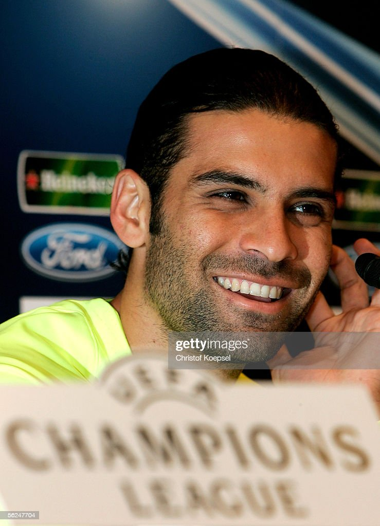 Rafael Marquez smiles during the Champions League FC Barcelona press conference on November 21, 2005 in Barcelona, Spain. The match between FC Barcelona and Werder Bremen will take place at the Camp Nou Stadium on November 22.