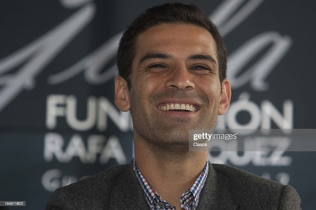 Rafael Marquez talks to the press during the conference about the second gala of Rafael Marquez Foundation Soccer and Heart on 11 October, 2012 in Mexico City.