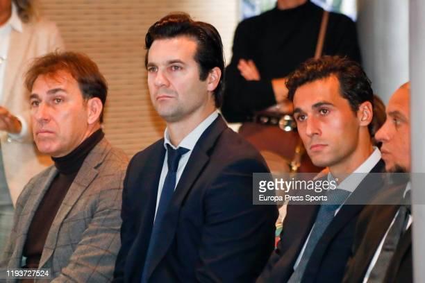 Rafael Martin Vazquez Santiago Solari Alvaro Arbeloa and Roberto Carlos explayers of Real Madrid are seen during the Presentation of the Corazon...