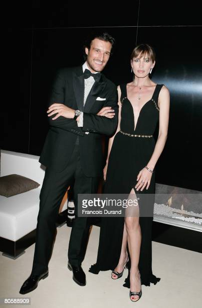Rafael Medina and Nieves Alvarez attend the 'Writing Time', Robert Wilson's watch launch gala hosted by Montblanc during the Salon International de...