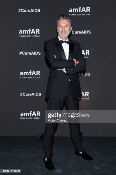 Rafael Mihca poses during the amfAR gala dinner at the house of collector and museum patron Eugenio López on February 5 2019 in Mexico City Mexico