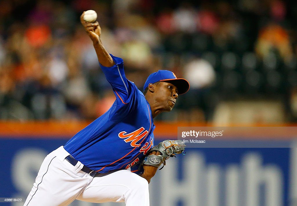 Rafael Montero #50 of the New York Mets in action against the Houston Astros at Citi Field on September 27, 2014 in the Flushing neighborhood of the Queens borough of New York City. The Mets defeated the Astros 2-1.