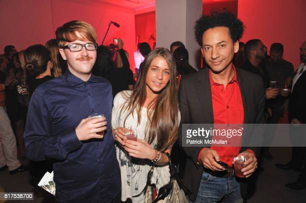 Rafael Myles Amanda Dickerson and Thierry Alet attend BALLY Hosts BALLY LOVE at Moore Building on December 2 2010 in Miami Florida