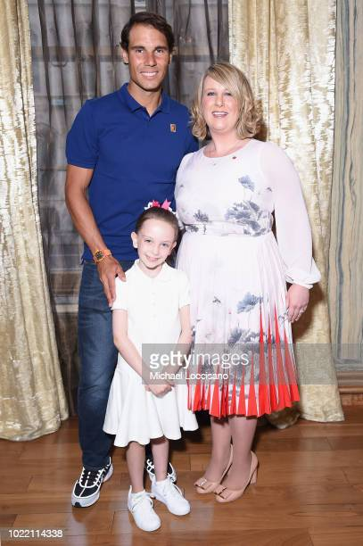 Rafael Nadal and Becky Hubbard attend 2018 Lotte New York Palace Invitational on August 23 2018 in New York City