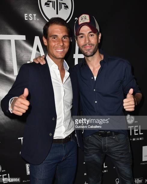Rafael Nadal and Enrique Iglesias attends the Grand Opening Celebration of TATEL Miami at TATEL Miami on March 20 2017 in Miami Beach Florida