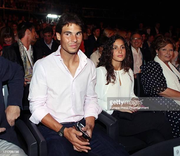 Rafael Nadal and his girlfriend Xisca Perello attend Julio Iglesias concert on June 26, 2013 in Barcelona, Spain.