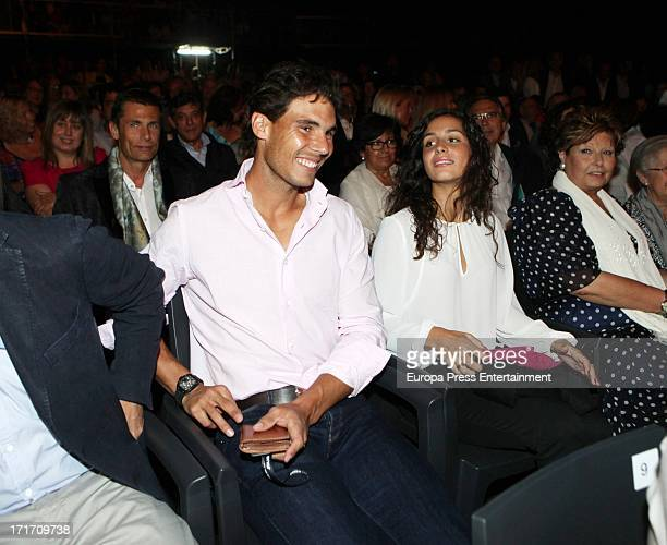 Rafael Nadal and his girlfriend Xisca Perello attend Julio Iglesias concert on June 26 2013 in Barcelona Spain