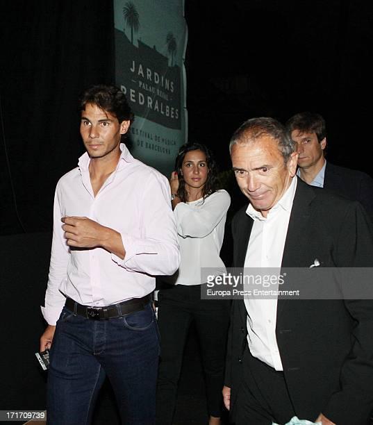 Rafael Nadal and his girlfriend Xisca Perello attend Julio Iglesias concert on June 26 2013 in Barcelona Spain