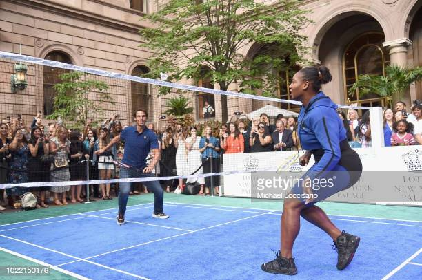 Rafael Nadal and Serena Williams attend 2018 Lotte New York Palace Invitational on August 23 2018 in New York City