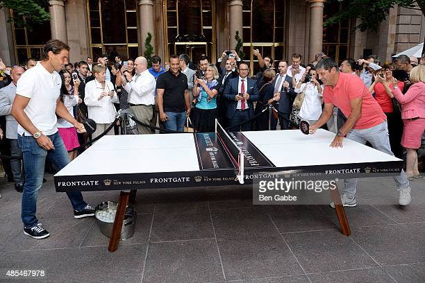 Rafael Nadal and Toni Nadal join The New York Palace for a Courtyard Cocktail Celebration at The New York Palace Hotel on August 27 2015 in New York...