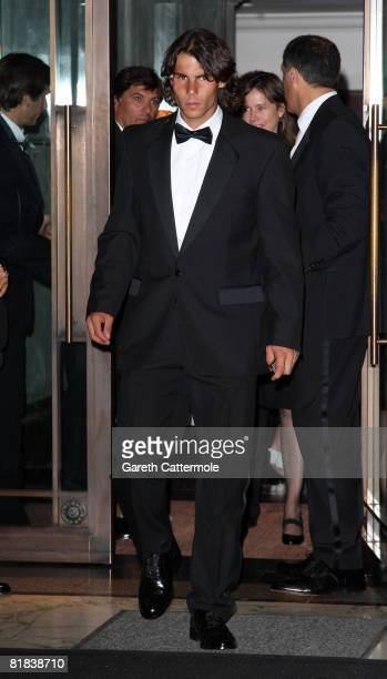 Rafael Nadal arrives at the 2008 Wimbledon Champions Dinner on July 6, 2008 in London, England.