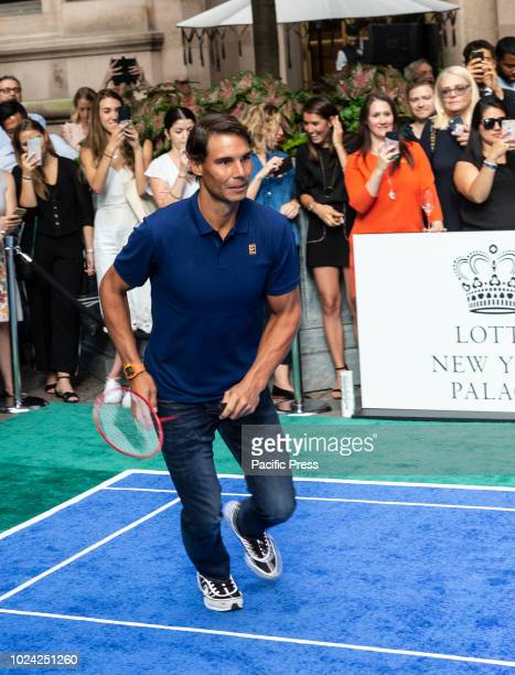 Rafael Nadal attend Invitational Badminton Tournament at Lotte New York Palace
