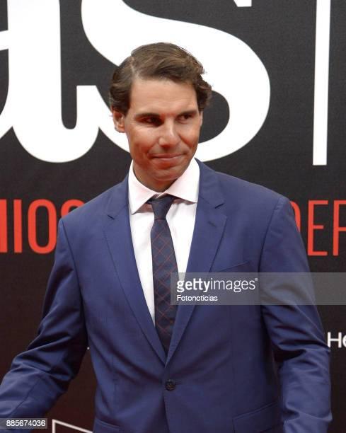 Rafael Nadal attend the 'As del Deporte' and 'As' sports newspaper 50th anniversary dinner at the Palacio de Cibeles on December 4 2017 in Madrid...