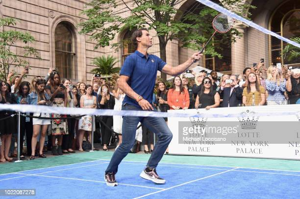 Rafael Nadal attends 2018 Lotte New York Palace Invitational on August 23 2018 in New York City