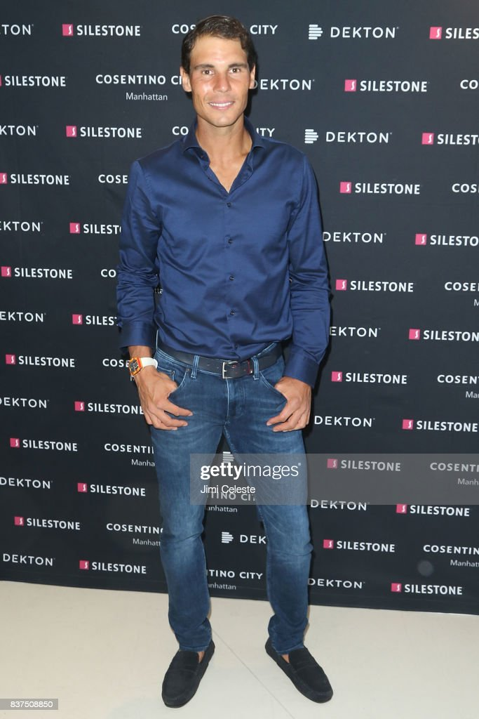 Rafael Nadal attends an exclusive cocktail event with Cosentino at Cosentino City Manhattan on August 22, 2017 in New York City.