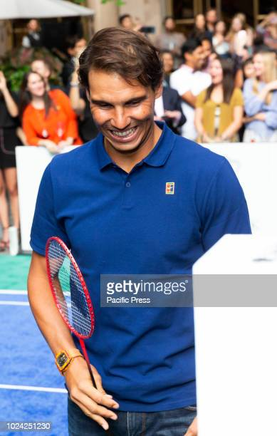 Rafael Nadal attends Invitational Badminton Tournament at Lotte New York Palace