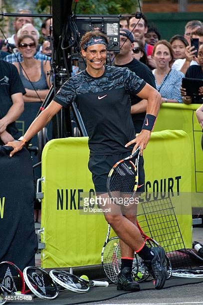 Rafael Nadal attends Nike's 'NYC Street Tennis' event on August 24 2015 in New York City