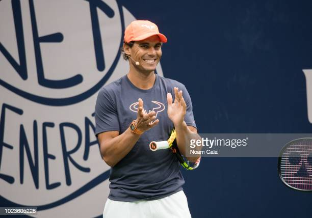 Rafael Nadal attends the 2018 Arthur Ashe Kids' Day at USTA Billie Jean King National Tennis Center on August 25 2018 in New York City