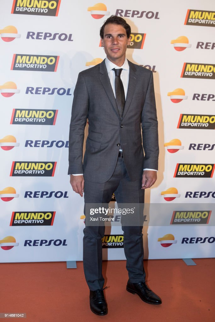 Rafael Nadal attends the photocall of the 70th Mundo Deportivo Gala on February 5, 2018 in Barcelona, Spain.