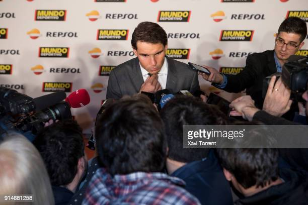 Rafael Nadal attends the photocall of the 70th Mundo Deportivo Gala on February 5 2018 in Barcelona Spain