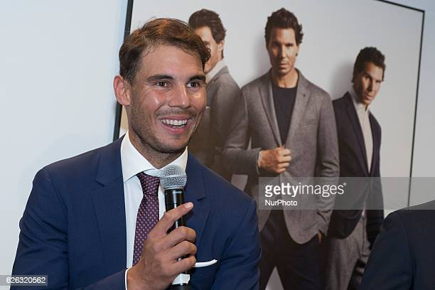 Rafael Nadal attends the presentation of the new collection of Tommy Hilfiger in Madrid. Spain 28 November 2016